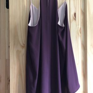 Express lilac and plum reversible tank.